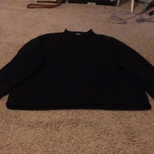 Vintage heavy knit, roll neck sweater